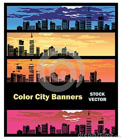 Color city banner