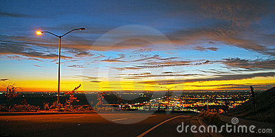 Color City View sunset