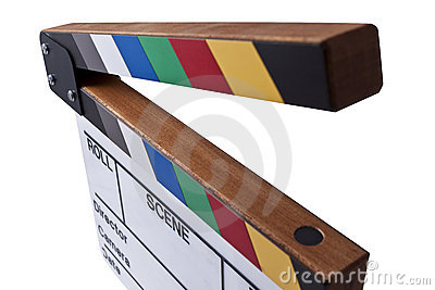 Color clapperboard top