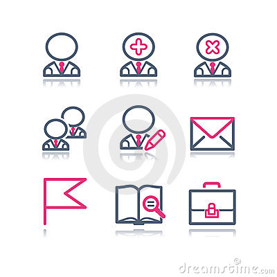 Color contour web icons, 1