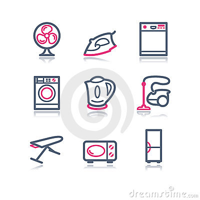 Free Color Contour Web Icons, 18 Royalty Free Stock Photos - 6774188