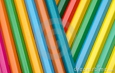 Color crayons background