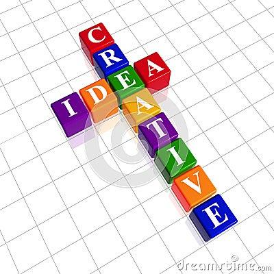 Color creative idea like crossword