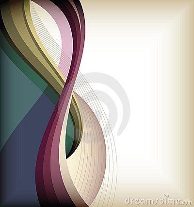 Color curve lines background