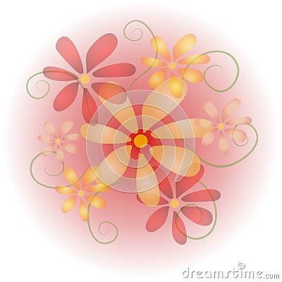 Color de rosa en colores pastel suave 2 de las flores