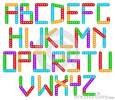Color designer alphabet