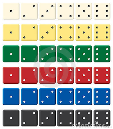Free Color Dices Set. Royalty Free Stock Images - 4356559