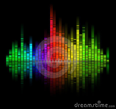 Color digital sound equalize