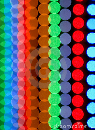 Color dots blurring background