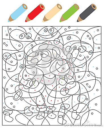 Color The Dots Visual Game For Children Illustration Is In Eps10 Mode