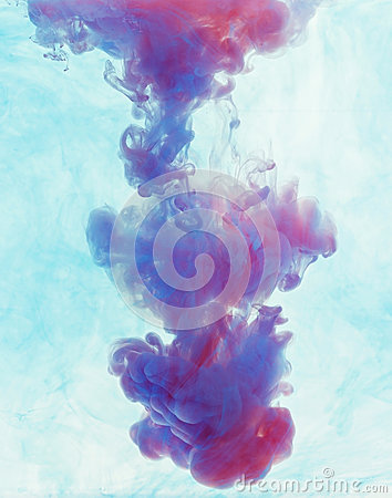 Free Color Drop Underwater Creating A Silk Drapery. Ink Swirling Unde Stock Photos - 80555933
