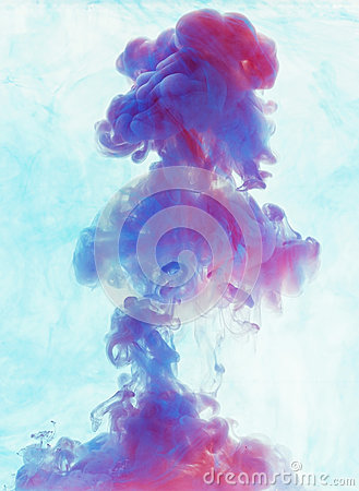 Free Color Drop Underwater Creating A Silk Drapery. Ink Swirling Unde Stock Images - 81117224