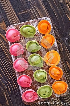 Color dumplings Stock Photo