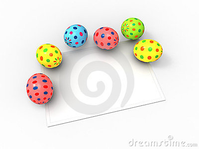 Color Easter eggs and card for the wishes