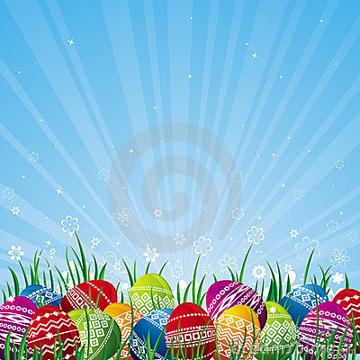 Free Color Easter Eggs, Vector Stock Photo - 4461500