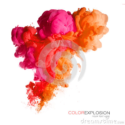 Free Color Explosion. Colorful Acrylic Ink In Water Stock Image - 74486841