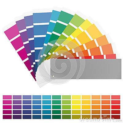 Color Fan With Twelve Colors Stock Vector