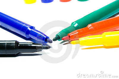 Color felt-tip pens