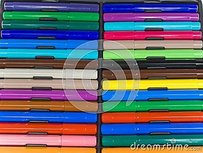 The color felt-tip pens