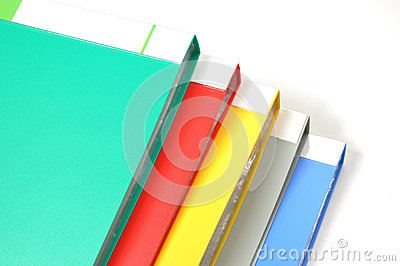 Color file folders isolated
