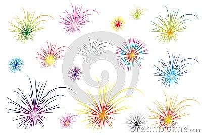 Color fireworks