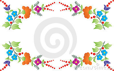 Color floral frame