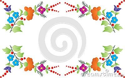 Color floral frame