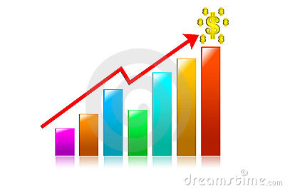Color ful Business Graph on a white background