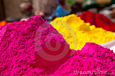 Color full colors of holi