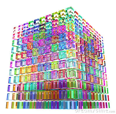 Color Glass Cube