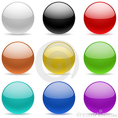 Color glossy spheres