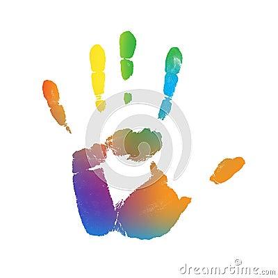 Color Gradient Hand Print