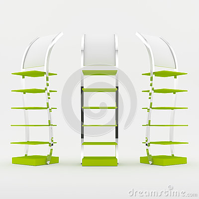 Color green shelf design