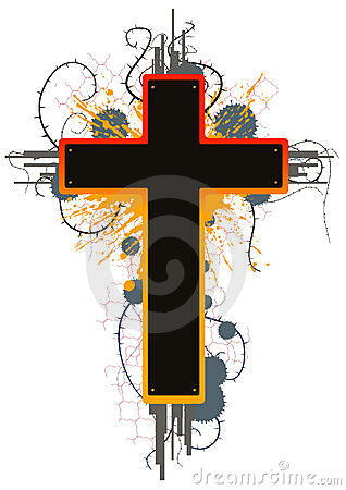 Color Grunge Cross