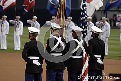 Color Guard Editorial Image