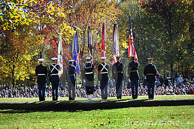 Color Guard - Veterans Day Ceremony Vietnam Mem Editorial Photo