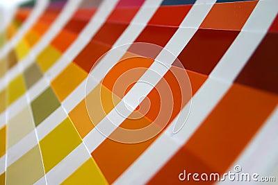 Color guide fan closeup