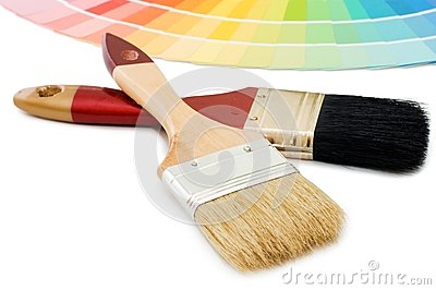 Color guide for selection and paintbrush