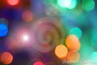 Color holiday lights background