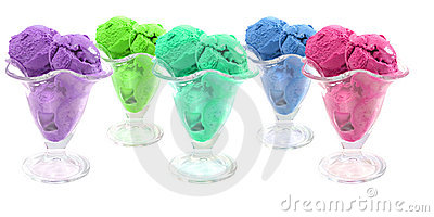 Color ice cream cones
