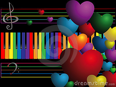 Color keys and hearts