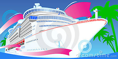 Color Luxury Cruise Boat.