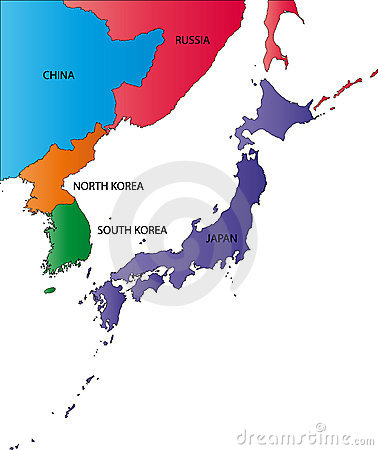 Color map of Japan
