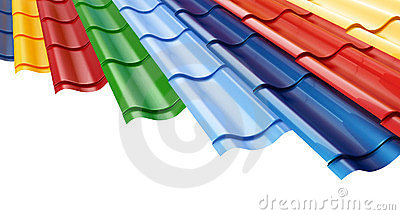 Color Metal Roof Tile  background