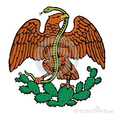 Color mexican eagle
