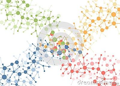 Color molecule connection background