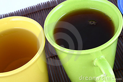 Color mug (with tea and coffee