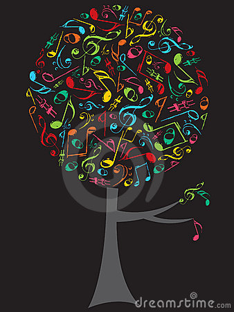 Free Color Musical Notes Pop Tree Royalty Free Stock Photo - 3077665