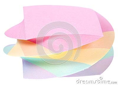 Color note paper block