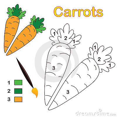 Color by number: carrots